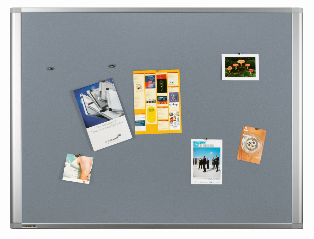 DYNAMIC textielbord grijs 90x180 cm