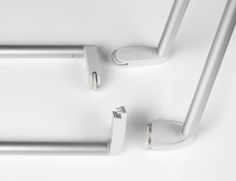 Draagarmset voor bovenrail Legaline DYNAMIC, geanodiseerd aluminium