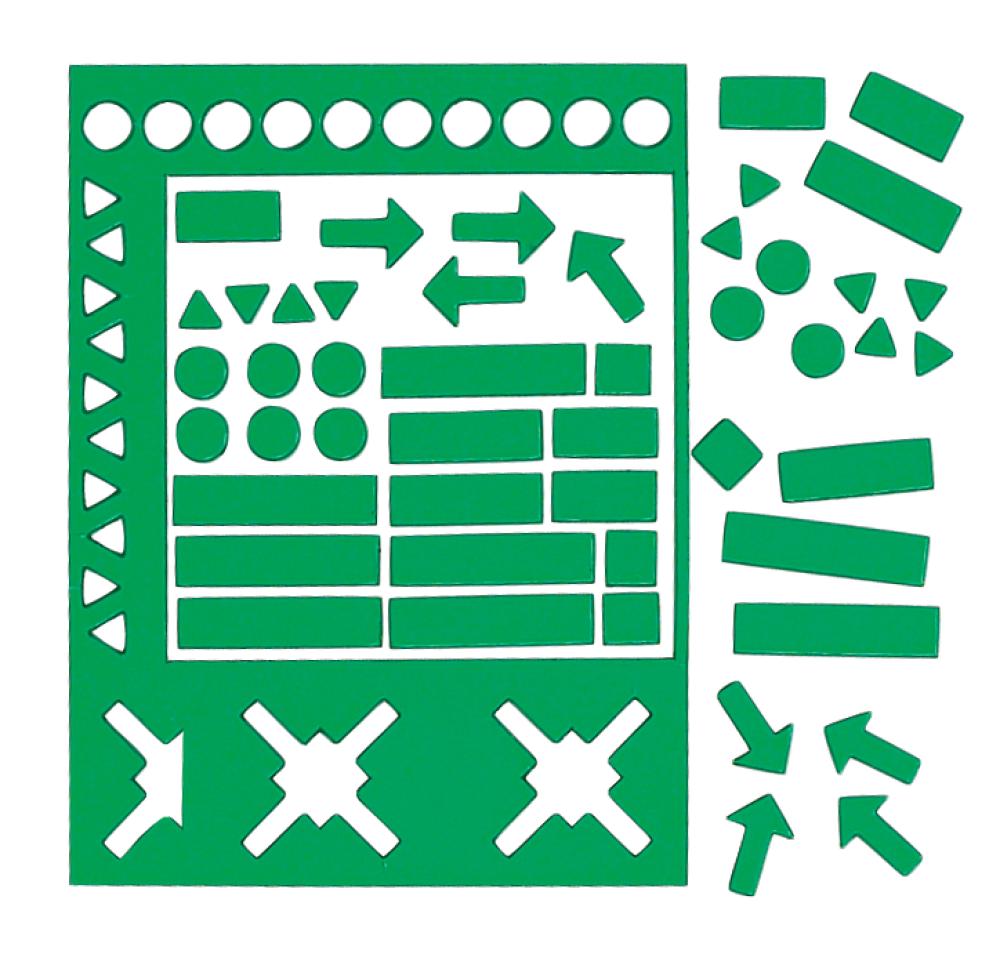 Magnetische symbolen 20 mm assorti groen