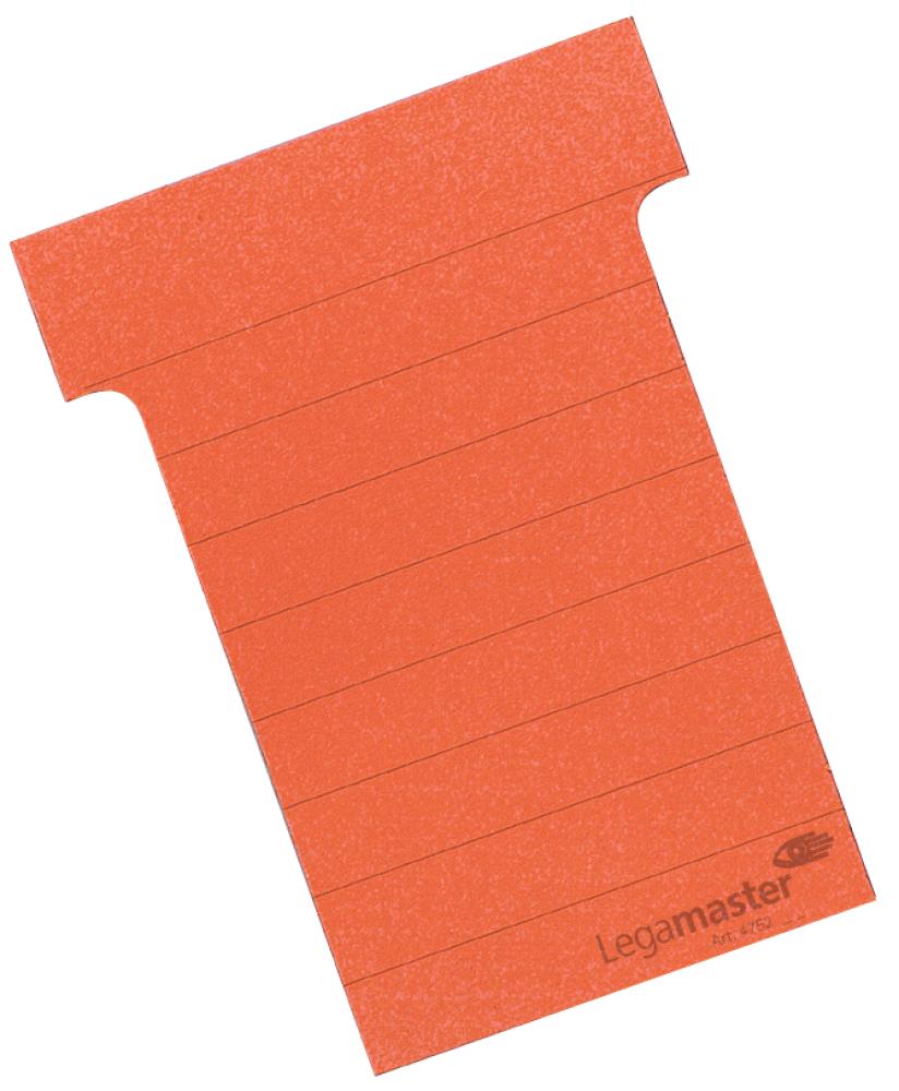 T-kaart middel 70 mm 100 stuks rood