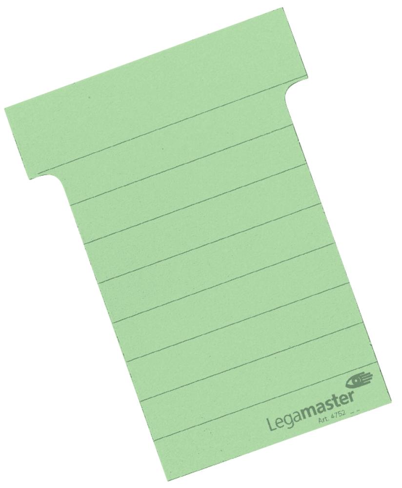 T-kaart middel 70 mm 100 stuks groen
