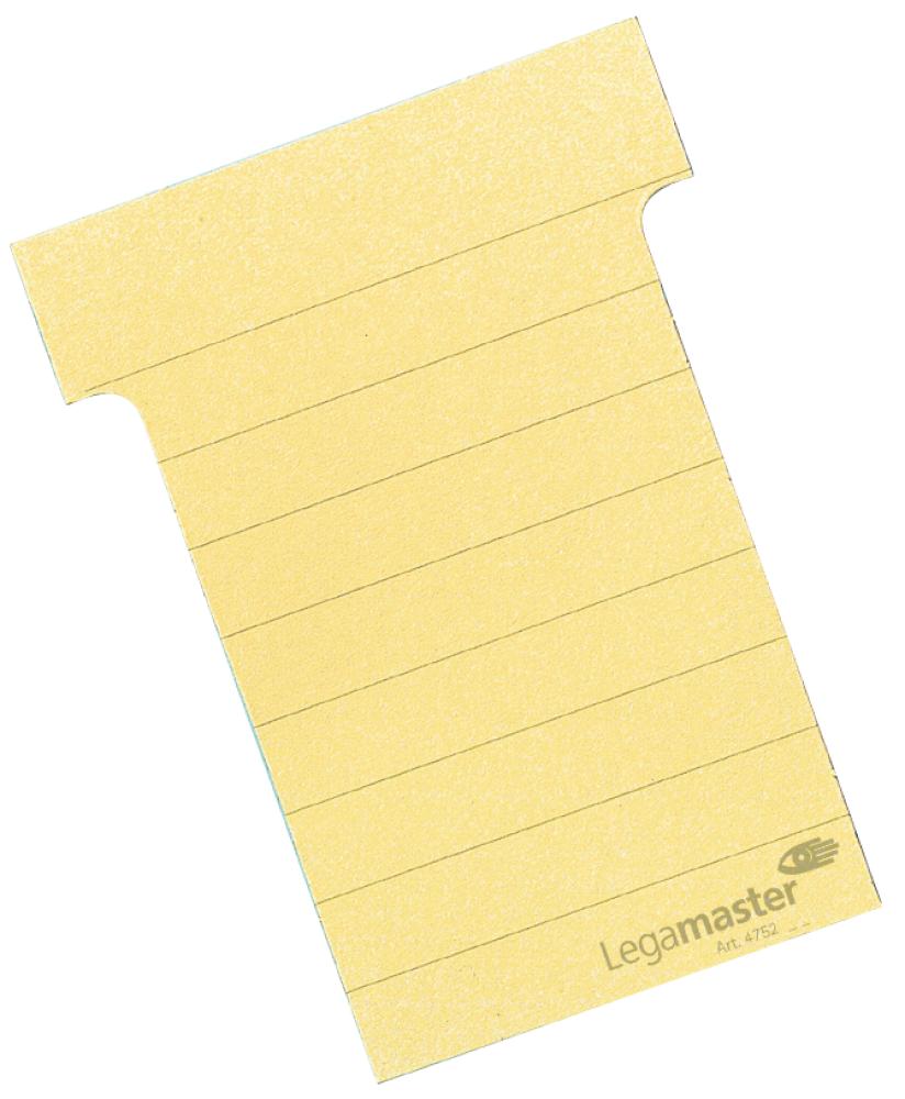 T-kaart middel 70 mm 100 stuks geel