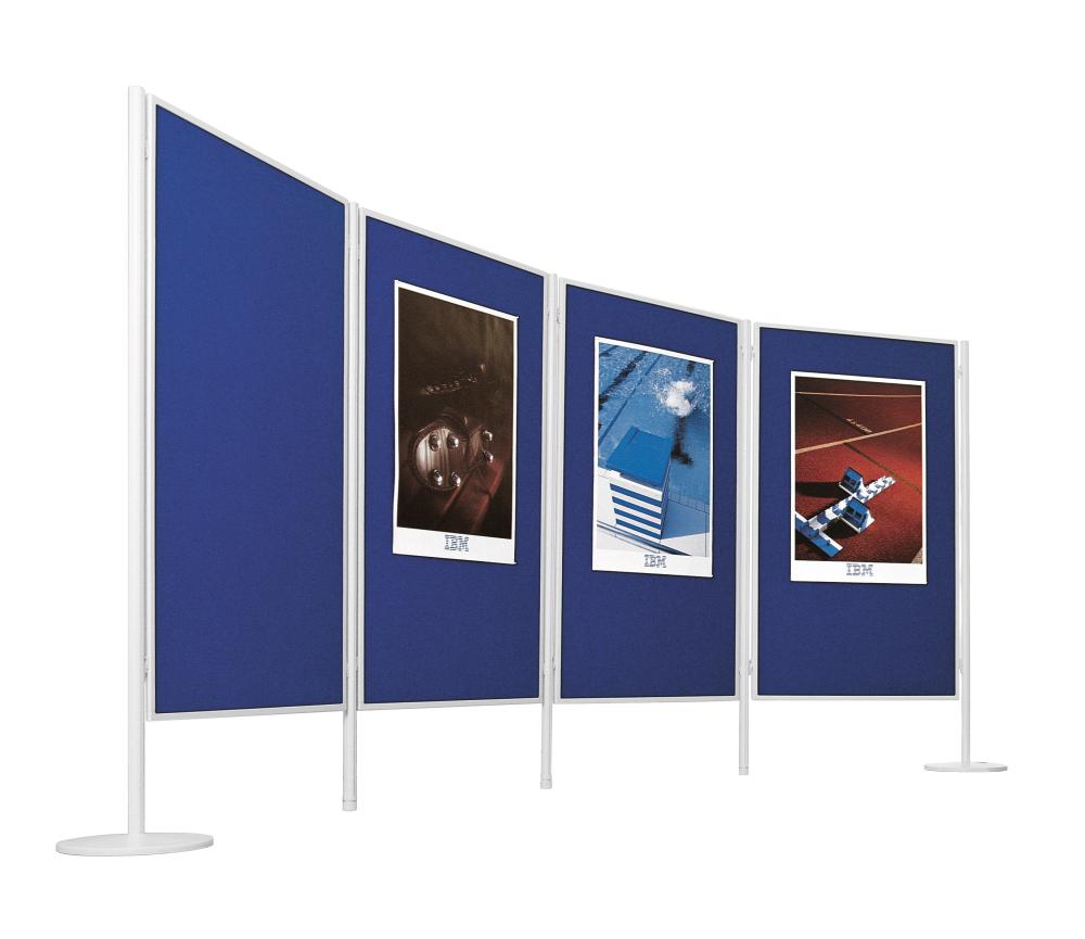 Dubbelzijdig textielbord voor Legaline PROFESSIONAL blauw 90x120 cm